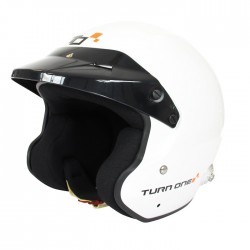 Casque FIA Jet TURN ONE Jet-RS blanc, SNELL SA2015