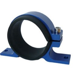 SUPPORT SIMPLE DE POMPE/FILTRE À ESSENCE - JOINTS DE PROTECTION EN 55MM(FILTRE) ET 60MM (POMPE BOSCH , SYTEC) -